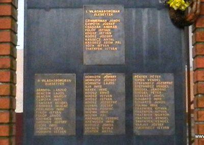 Háromfa világháborús emlékmű 2014.10.18. küldő-Huber Csabáné (2)