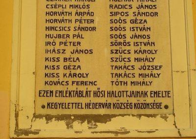 Hédervár világháborús emléktáblák 2009.01.25.küldő-Ancsa84 (1)
