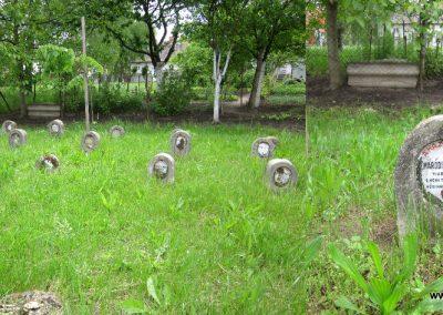 Hévízgyörk I. világháborús sírkövek a világháborús emlékmű mellett 2014.05.05. küldő-kalyhas (2)