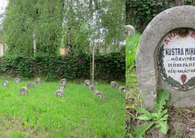 Hévízgyörk I. világháborús sírkövek a világháborús emlékmű mellett 2014.05.05. küldő-kalyhas (5)