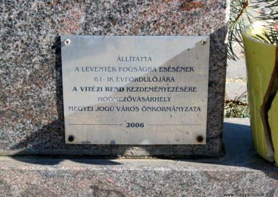 Hódmezővásárhely II. világháborús levente emlékmű 2015.02.14. küldő-Emese (4)