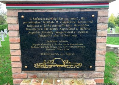 Hódmezővásárhely, Kincses temető - Hősi parcella I. és II. világháborús emlékhely 2014.10.21. küldő-Sümec (31)