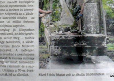 Hódmezővásárhely-Sóshalom egy újságcikk az emlékműről. 2014.09.04. küldő-Sümec (1)