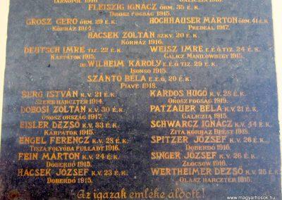 Hódmezővásárhely zsinagóga I. világháborús emléktábla 2015.03.20. küldő-Emese (4)
