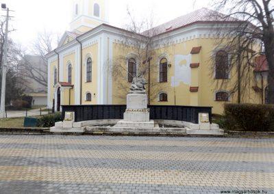 Hajdúszoboszló felújított I. világháborús emlékmű 2018.01.28. küldő-kalyhas