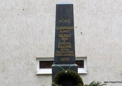 Halmajugra világháborús emlékmű 2009.03.27. küldő-kalyhas (2)