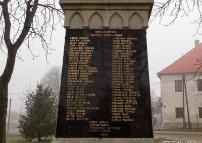 Harka, I. és II. világháborús emlékmű