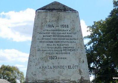 Hedrehely I. világháborús emlékmű 2014.08.28. küldő-Huber Csabáné (3)