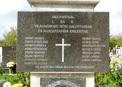 Hegyhátsál világháborús emlékmű 2015.10.05. küldő-Méri (2)