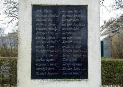 Hegykő, I. világháborús emlékmű