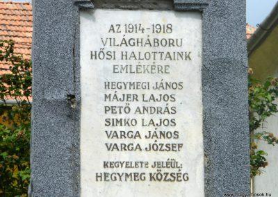 Hegymeg I.vh emlékmű 2011.05.29. küldő-Röghegyiné Spisák Anita (2)