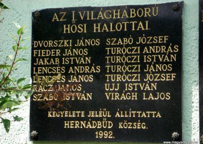 Hernádbüd világháborús emléktáblák 2011.08.10. küldő-megtorló (2)