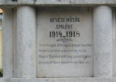 Heves I.vh emlékmű 2007.08.21. küldő-kalyhas (3)