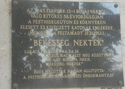 II. kerület Pesthidegkút világháborús emlékmű 2008.10.09. küldő-Huszár Peti (7)