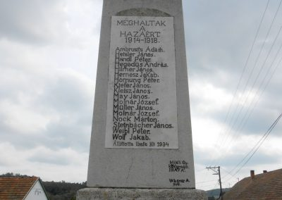Ibafa I. világháborús emlékmű 2014.09.20. küldő-Turul 68 (1)