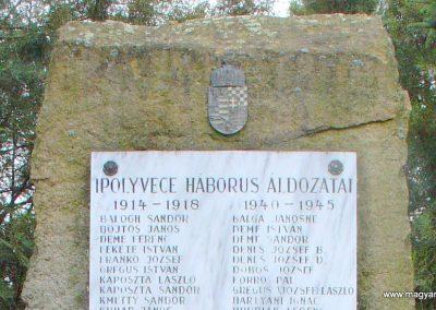 Ipolyvece világháborús emlékmű 2008.04.06. küldő-Pfaff László, Rétság (1)