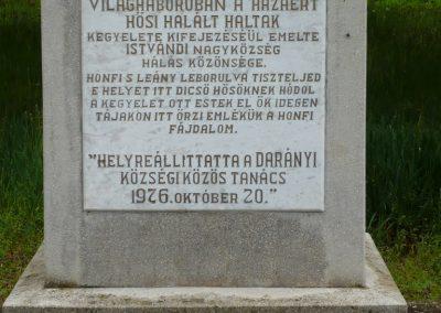 Istvándi világháborús emlékmű 2009.04.21.küldő-Sümec (2)