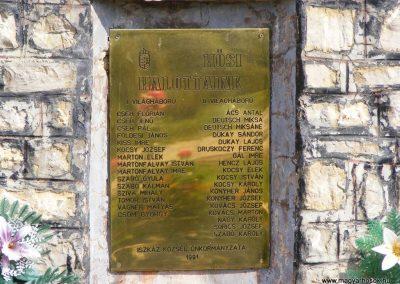 Iszkáz, I. és II.vh. emlékmű