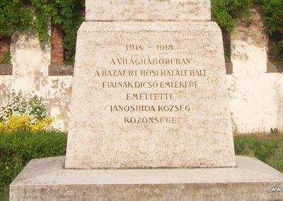Jánoshida I.vh emlékmű 2009.04.30. küldő-miki (2)