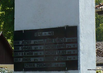 Jósvafő világháborús emlékmű 2009.05.17.küldő-Gombóc Arthur (3)