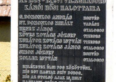 Kánó világháborús emlékmű 2010.08.12. küldő-Gombóc Arthur (2)