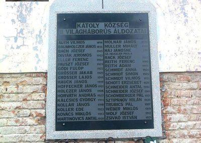 Kátoly II.vh emléktábla 2012.04.13. küldő-Turul 68