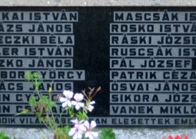 Kéked világháborús emlékmű 2009.08.02. küldő-megtorló (2)