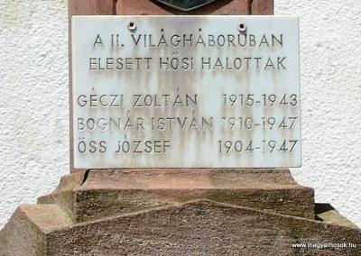 Kétújfalu - Magyarújfalu világháborús emlékmű 2014.06.08. küldő-Dr.Lázár Gyula Levente (4)