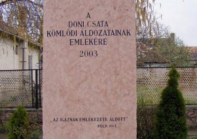 Kömlőd Doni áldozatok emlékműve 2012.04.07. küldő-Méri