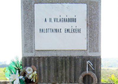 Köröm II.vh emlékmű 2007.09.24. küldő-kalyhas