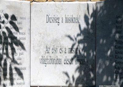 Körösfő világháborús emlékmű 2018.07.11. küldő-Bóta Sándor (4)
