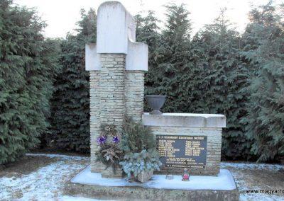 Kőszegfalva II.vh emlékmű 2009.01.16. küldő-gyurkusz (1)