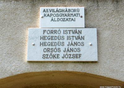 Kaposgyarmat II.vh emléktábla 2011.04.23. küldő-kalyhas (2)
