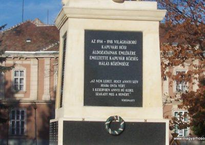 Kapuvár I.vh emlékmű 2009.11.15. küldő-Horváth Zsolt (1)