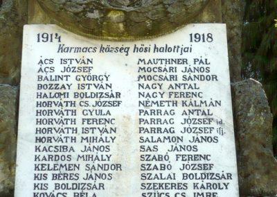 Karmacs I. világháborús emlékmű 2013.04.14. küldő-Sümec (5)