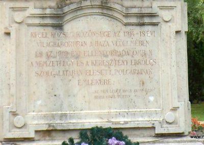 Kecel I.világháborús emlékmű 2012.08.31. küldő-Baloghzoli (2)