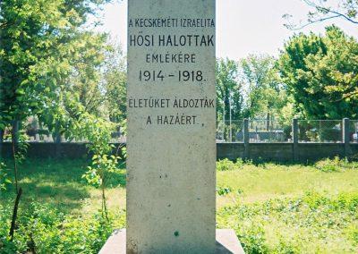 Kecskemét Izraelita temető I. világháborús emlékmű 2010. küldő-Emese