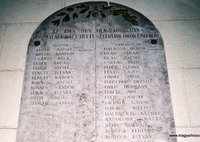 Kecskemét Izraelita temető I. világháborús emléktábla 2010. küldő-Emese (1)