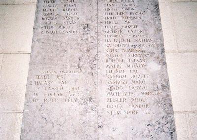 Kecskemét Izraelita temető I. világháborús emléktábla 2010. küldő-Emese
