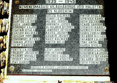 Kemenesmagasi világháborús emlékmű 2010.08.08. küldő- -NEMES- (3)