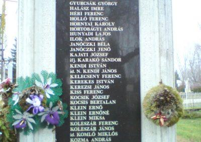 Kenézlő világháborús emlékmű 2009.12.05. küldő-Ágca (4)