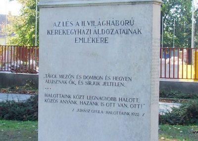 Kerekegyháza világháborús emlékmű 2007.10.16.küldő-Markó Péter (8)