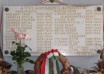 Kerkafalva;Alsószenterzsébet;Ramocsa II.vh emléktábla 2009.11.17. küldő-Sümec (1)