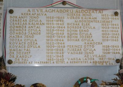Kerkafalva;Alsószenterzsébet;Ramocsa II.vh emléktábla 2009.11.17. küldő-Sümec (2)