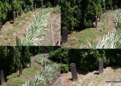 Kerkaszentkirály világháborús emlékmű az elesett katonák fejfáival 2012.07.10. küldő-Sümec (6)