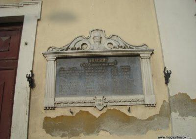 Kisújszállás templom I.vh emléktábla 2009.05.16.küldő-Huszár Peti