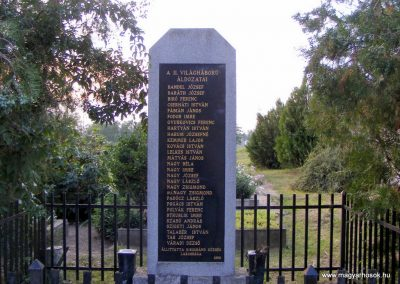 Kisigmánd, II. világháborús emlékmű