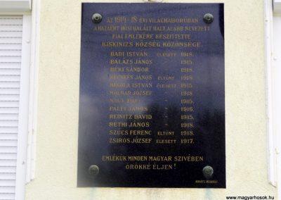 Kiskinizs I. világháborús emléktábla 2014.08.24. küldő-kalyhas (2)