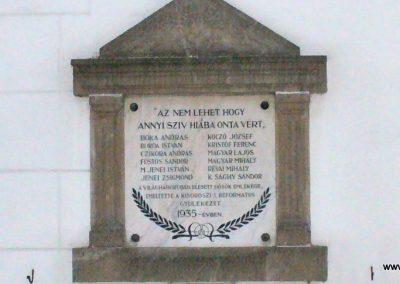 Kisoroszi I.vh emléktábla a ref.templom oldalán 2009.10.11. küldő-HunMi (2)