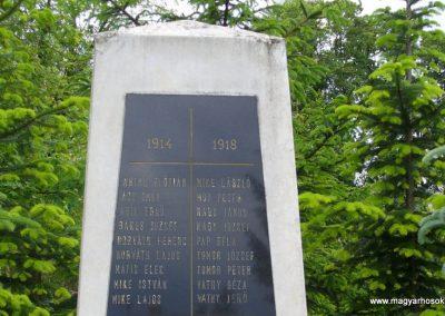 Kisszőlős világháborús emlékmű 2010.05.26. küldő-HunMi (2)
